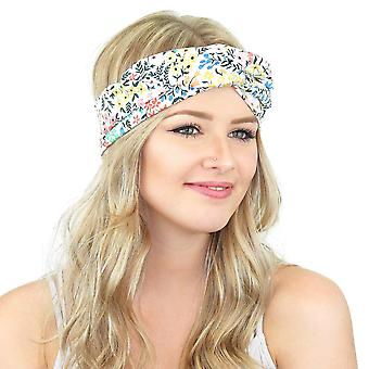 White Floral Twisted Wire Headties