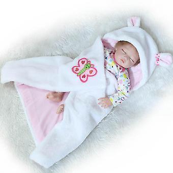 Muñeca renacida 55cm muñecas niña suave silicona boneca renacido brinquedos bonecas día del niño regalos juguetes tiempo de cama plamates