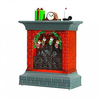 Navidad 3D Chimenea Navidad Medias Luz nocturna Led Lámpara de escritorio de mesa Decoración de la casa