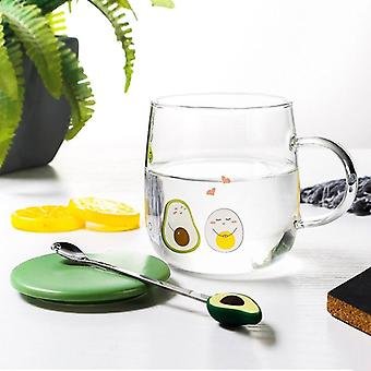 Glass Water Cup For Boys And Girls Korean Version Lovely Large Capacity Mug(transparent)