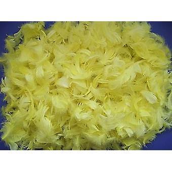 50g Plumas Amarillas a Granel para Artesanía