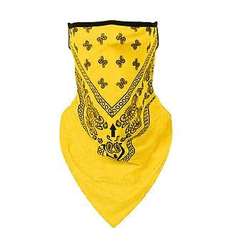 (Yellow) Multi-use Biker Cycling Balaclava Neck Tube Snood Scarf Face Mask Warmer Bandana
