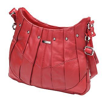 Ladies Leather Cross Body Handbag with Stud Detailing