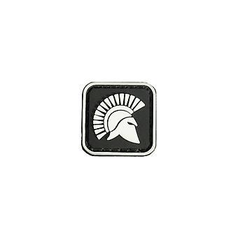 3 Pcs Square Mini Molon Labe King Of Sparta Glow Tactical Army PVC Patch Brassard Black
