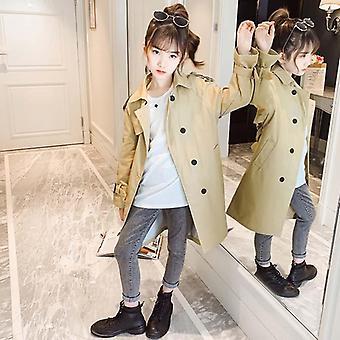 Mädchen Lange Jacke Einfarbig Mäntel Kinder Casual Styles ' Jacke