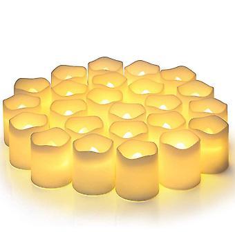 24 X LED stearinlys elektronisk simulation stearinlys fyrfadslys juledekoration lampe