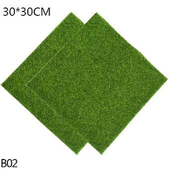 1Pcs 15cm/30cm artificial grassland simulation moss lawn turf fake green grass mat  carpet diy micro landscape home floor decor