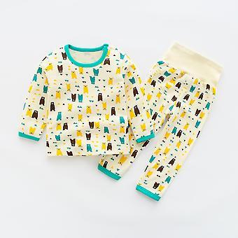 Syksyn vauvankotivaatteet Kevät Vauvan sleepwear-sarjat puuvilla-alusvaatteille Korkea