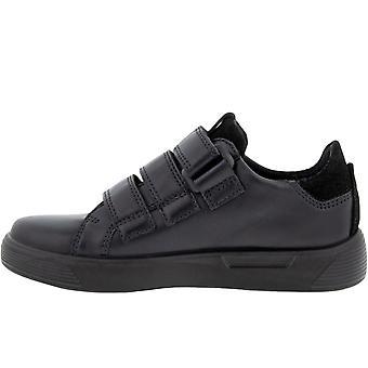 ECCO Childrens Street 1 Krog &loop lædertrænere Sneakers Sko - Sort