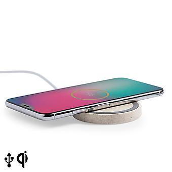 Chargeur sans fil Qi pour Smartphones 16535 Paille de blé Abs