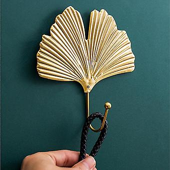 Haushälterin an der Wand Wanddekor Blätter gebunden Kleiderständer Haken Garderobe Haken Regal Schlüssel Kleiderbügel