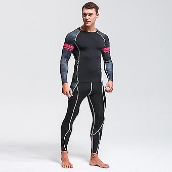 High-quality Menins Thermal Underwear Set Gym Quick-drying Riding Warm Sport