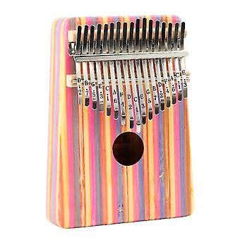 17 Keys kalimba thumb piano stripe pattern beginner portable musical instrument