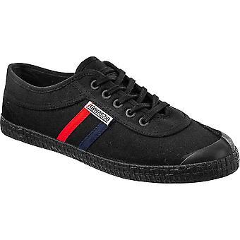 KAWASAKI FOOTWEAR - Retro canvas shoe - black solid - men's footwear