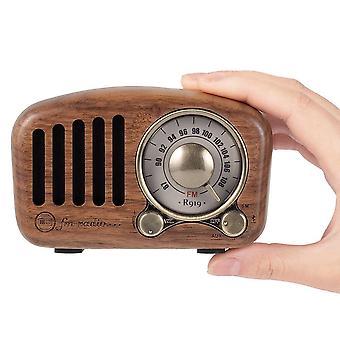 Classical Retro Receiver Portable Bluetooth Speaker Wireless Soundbar SubwooferSpeakers(Walnut)