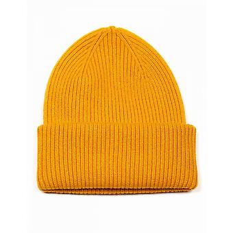 Colorful Standard Merino Wool Chunky Beanie Hat - Burned Yellow