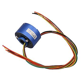 Integrated circuits chips blue 200mm length cable 380v 6 wires 10a 12.7mm dia capsule slip rings ppm-2221