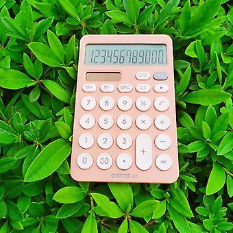 Calculateur de bureau à 12 chiffres Grands boutons Outil de comptabilité d'entreprise financière (orange)