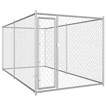 Hund udendørs bur 382x192x185 cm
