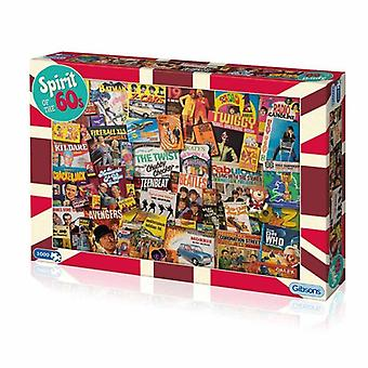 Spirit of the 60s 1000pc Jigsaw by Gibsons