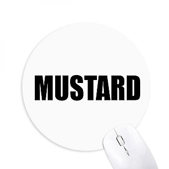 Mustard Vegetable Name Foods Round Non-slip Rubber Mousepad Game Office Mouse Pad