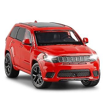 Toy cars 1/32 grand cherokee track eagle alloy die cast model toy car sound light toys vehicle red