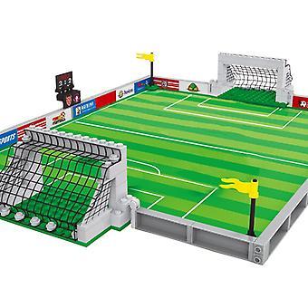 Ausini Boisko do piłki nożnej budulecy zabawki dla chłopców mini figury piłkarzy konstruktor city model twórca dzieci gra sportowa