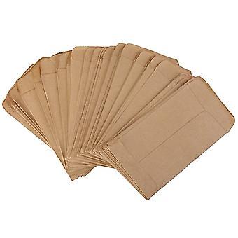 100pcs Vintage Kraft Papier Samenbeutel Beutel Verdickte Samenbeutel Kraft Papier Beutel