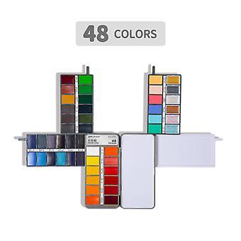 Solid Aquarel Verf Set Schilderij Set 48 kleuren voor beginners