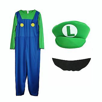 Enfants Super Mario Luigi Bros Cosplay Fancy Dress Outfit Costume.