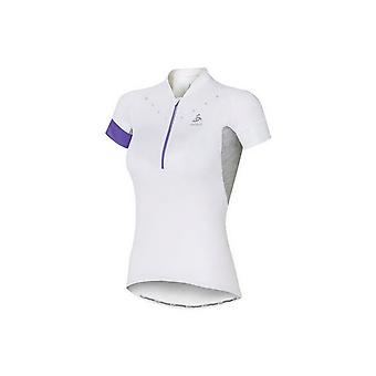 Odlo Stand-Up Collar Short Sleeve 1/2 Zip Isola 410911-10000 Womens T-shirt