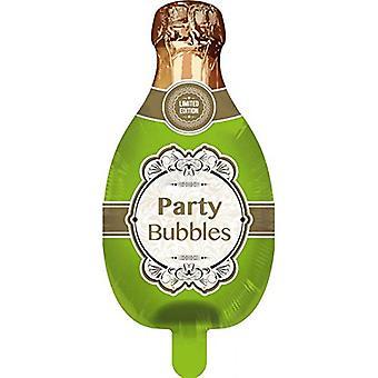 Stagnola pallone bottiglia di vino frizzante champagne elio palloncino 75 x 33 cm palloncino