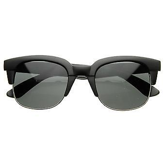Super Square Modern Fashion Half Frame Retro Horn Rimmed Sunglasses
