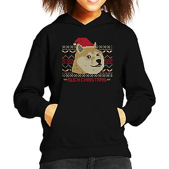 Such Christmas Dog Kid's Hooded Sweatshirt
