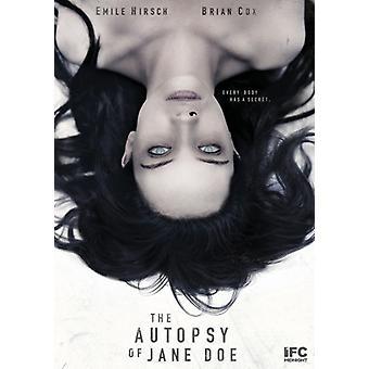 Autopsy of Jane Doe [DVD] USA import