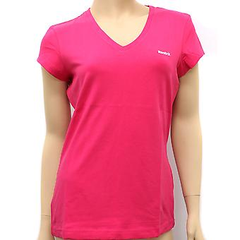 Reebok Womens tiefer V T Candy Pink T-Shirt