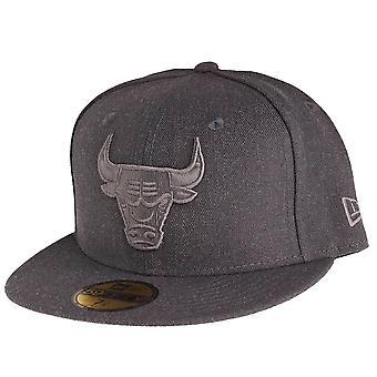 New era 59Fifty Cap - GRAPHITE of grey Chicago Bulls