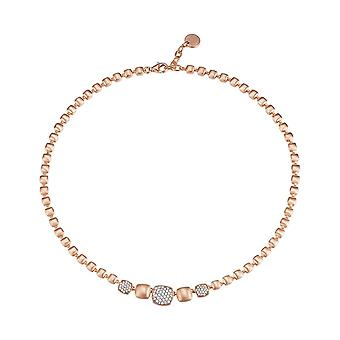 ESPRIT collection ladies chain necklace silver Rosé ANTIGONE ELNL92649B420