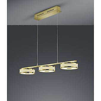 Trio d'éclairage moderne Agento laiton Matt métal pendentif