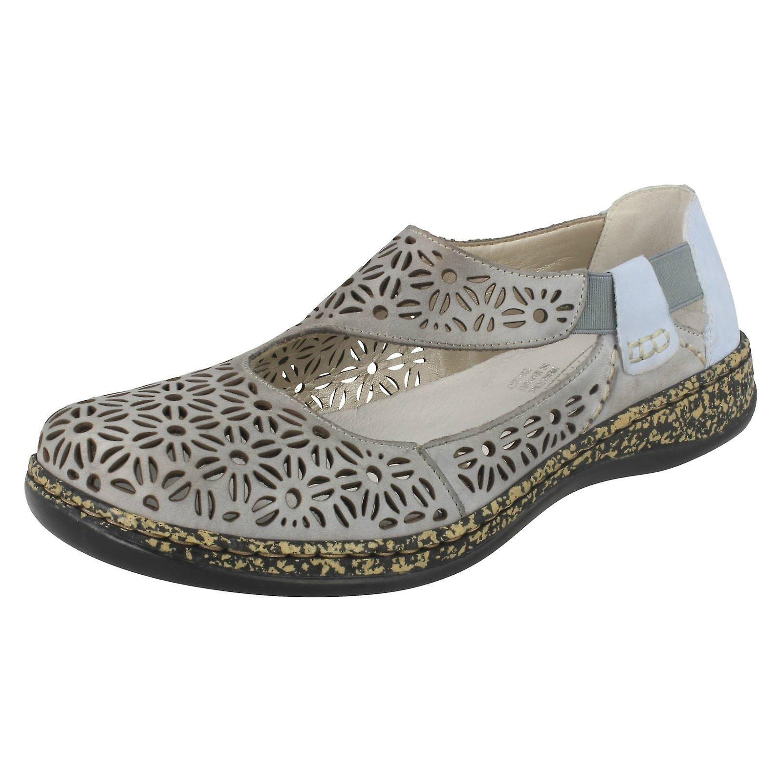 Damskie Rieker elastyczne poślizgu na płaskie buty 46375 5GD51
