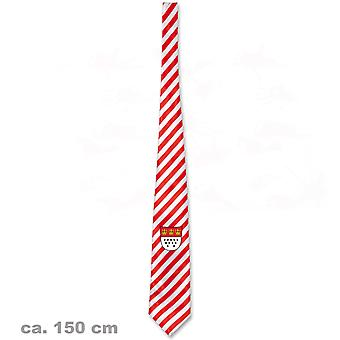 Cravatta stemma cittadino Colonia di Colonia 150 cm accessorio Jeck a strisce rosso e bianco