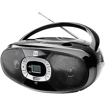 P391 Radio CD-Player FM CD, USB Schwarz