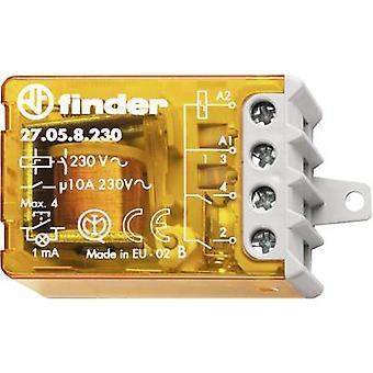 Finder 27.05.8.230.0000 10A stap Relais 230 V AC 2 Closers 10 een Max 230 V AC (AC1) Max 2300 VA /(AC15 V) Max 500 VA