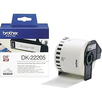 Brother DK-22205 Label roll 62 mm x 30.48 m Paper White 1 pc(s) Permanent DK22205 All-purpose labels