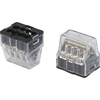 818264 skruen terminal fleksibel: - stive: 1-2.5 mm² antall pinner: 8 1 eller flere PCer gjennomsiktig og svart