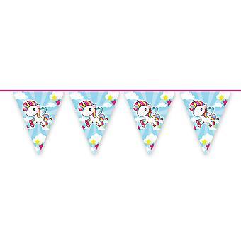 Unicórnio Wimpel cadeia cica 10m longa unicórnio unicórnio festa decoração do partido