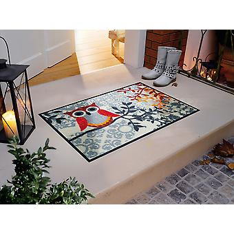 Amalia plancher lavable mat lavage + sec chouettes 50 x 75 cm