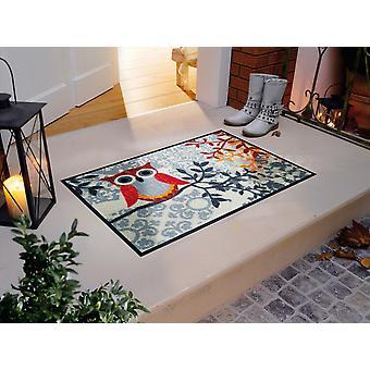 Amalia washable floor mat wash + dry 50 x 75 cm owls