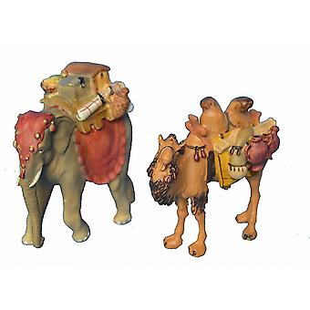Elephant and camel Nativity figures for Nativity scene Christmas Nativity stable