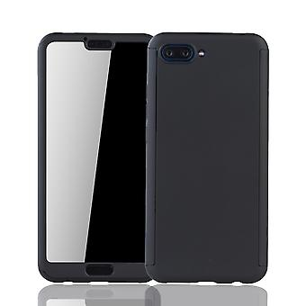Huawei honor 10 mobile case protection-case full cover tank protection glass, black